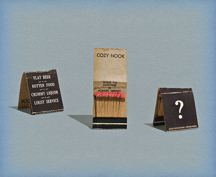 Where the Customer is Always Wrong (Matchbook)